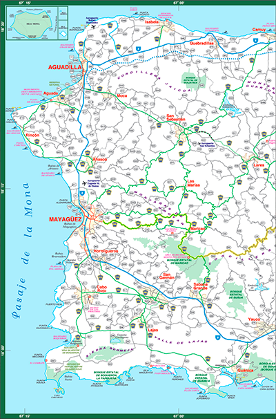 puerto rico detailed map Puerto Rico S Highway And Road Maps puerto rico detailed map