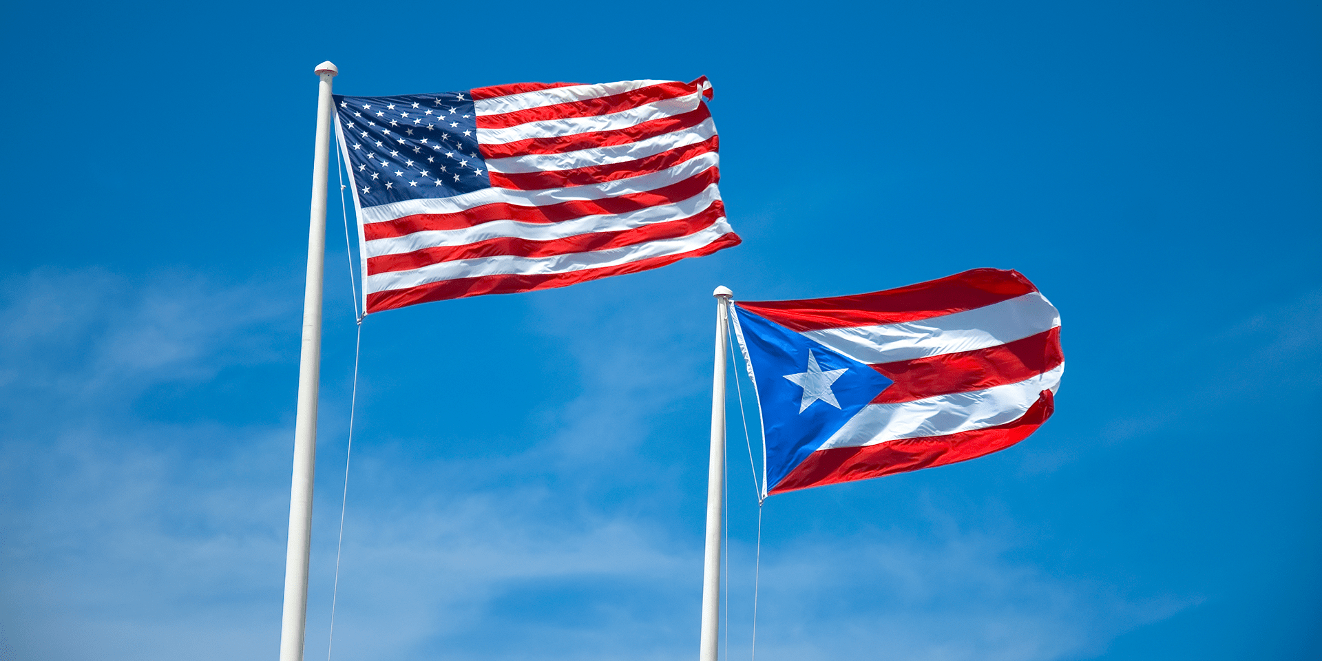 The Flag Of The Commonwealth Of Puerto Rico