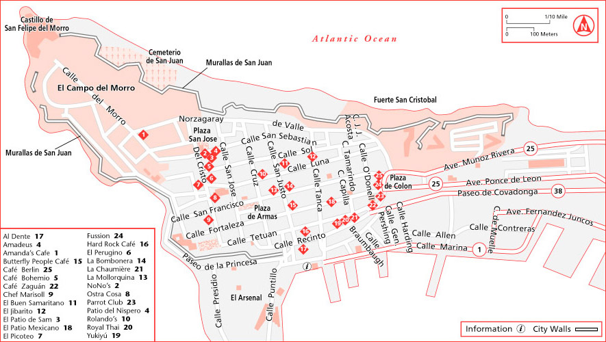 San Juan Puerto Rico – San Jose Tourist Attractions Map