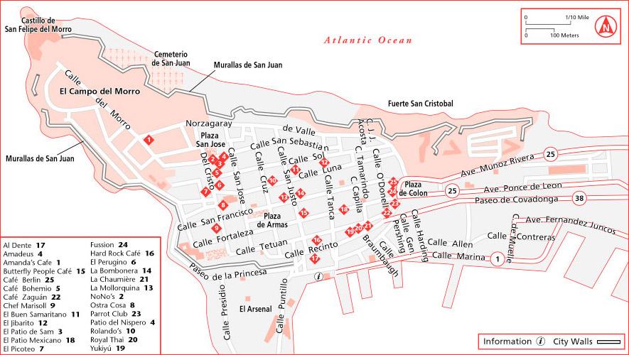 ... Old San Juan Dining Map ...
