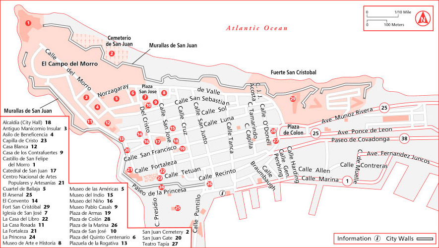 Lovely ... Old San Juan Attractions Map ...