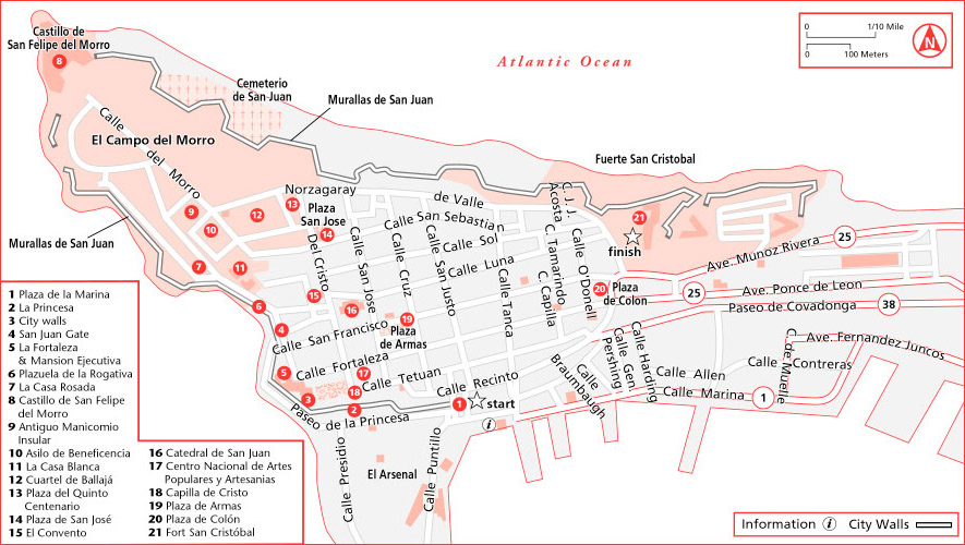 Awesome ... Walking Tour Throught Old San Juan Map ...