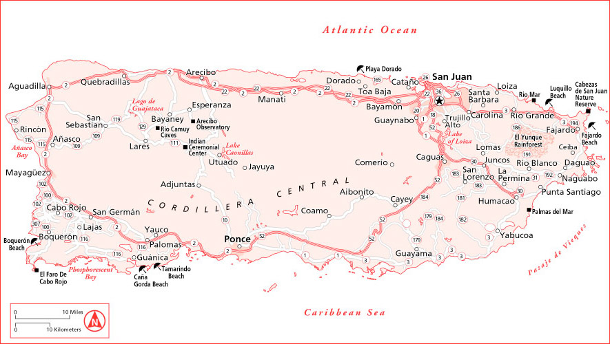 About Puerto Rico General Description and Information – Puerto Rico Tourist Map