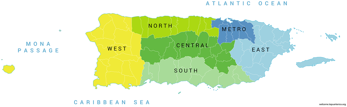 Puerto Rico\'s Regions and Cities