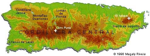 elevation map of puerto rico Puerto Rico S Topography elevation map of puerto rico