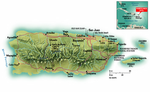 Geography Of Puerto Rico - Puerto rico united states map