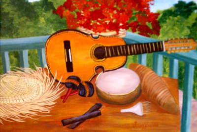 Instrumentos Musicales Tipicos Artwork By Lucienne Tavarez